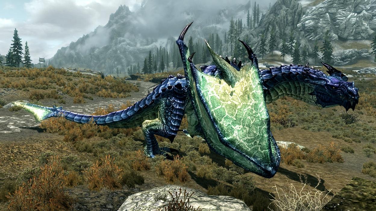Скачать мод для Skyrim Deadly Dragons